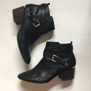 {Coach} Pauline Leather Ankle Booties